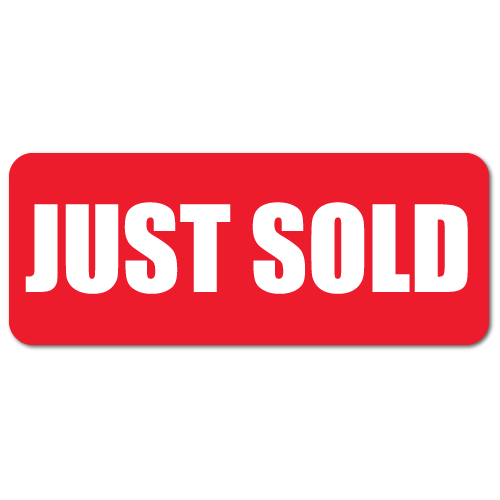 """""""JUST SOLD"""" Labels"""