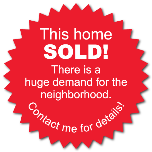 This Home Sold, 2 Inch Burst Labels