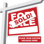 Custom Real Estate Sign Stickers