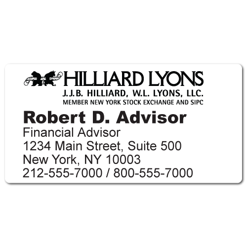 Custom Stickertape™ Labels for Hilliard Lyons