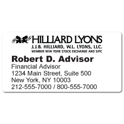 Custom Stickertape™ Labels for Hilliard Lyons