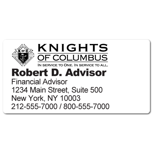 Custom Stickertape™ Labels for Knights of Columbus
