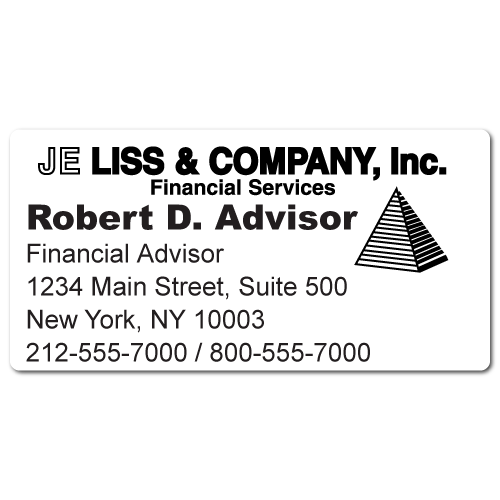 Custom Stickertape™ Labels for JE Liss & Company