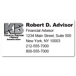 Custom Stickertape™ Labels for KB Financial Partners