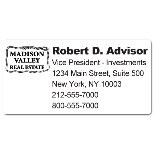Custom Stickertape™ Labels for Madison Valley Real Estate