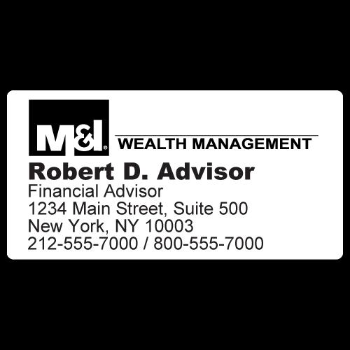 Custom Stickertape™ Labels for M&I Wealth