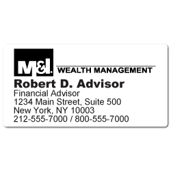 Custom Stickertape™ Labels for M&I Wealth