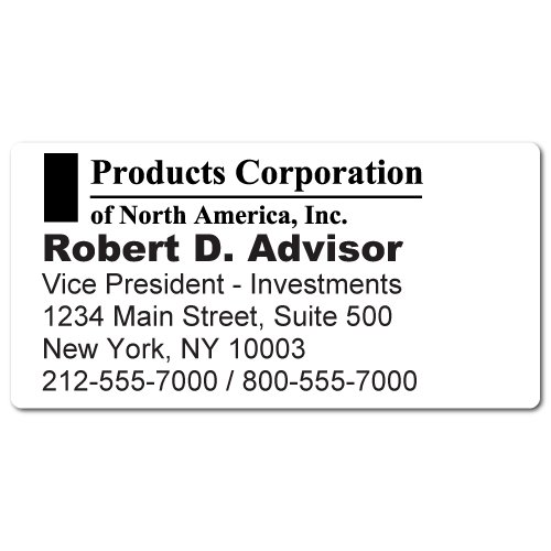 Custom Stickertape™ Labels for Products Corporation of North America
