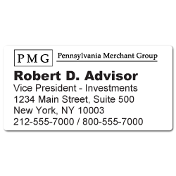 "Custom Stickertape™ Labels for ""PMG"" Pennsylvania Merchant Group"