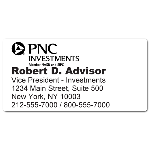 Custom Stickertape™ Labels for PNC Investments