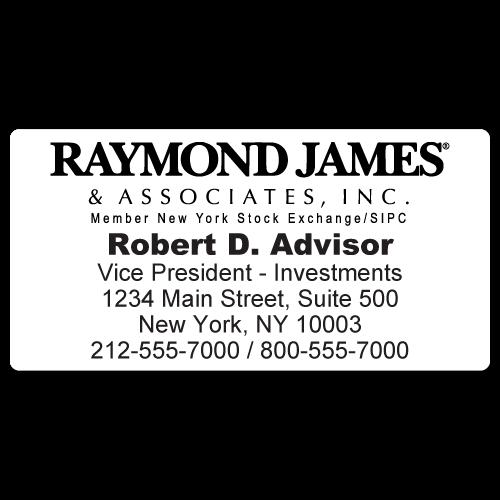 Custom Stickertape™ Labels for Raymond James & Associates