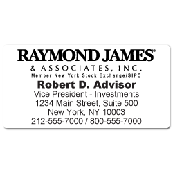 Custom Stickertape™ Labels for Raymond James & Associates
