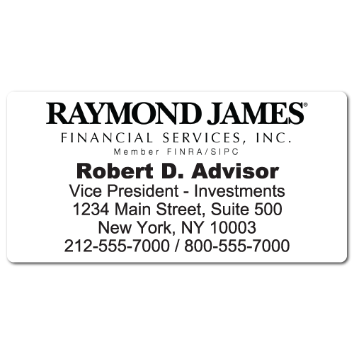 Custom Stickertape™ Labels for Raymond James Financial Services