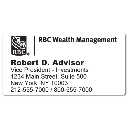 Custom Stickertape™ Labels for RBC Wealth Management