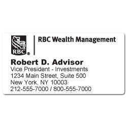 Custom Stickertape™ Labels for RBC Wealth Management