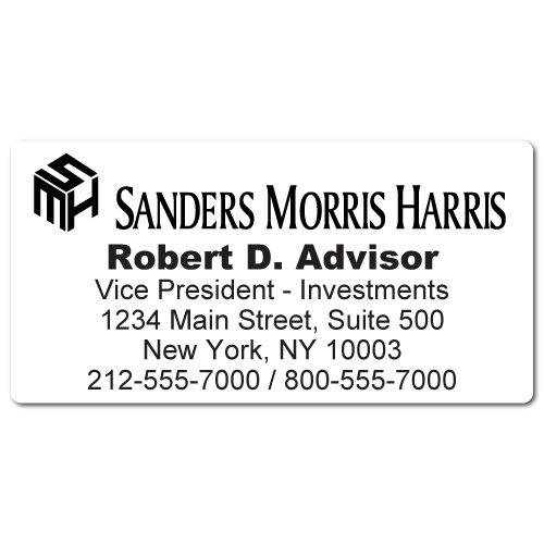 Custom Stickertape™ Labels for Sanders Morris Harris