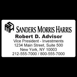 Custom Stickertape™ Labels for Sanders Morris Harris