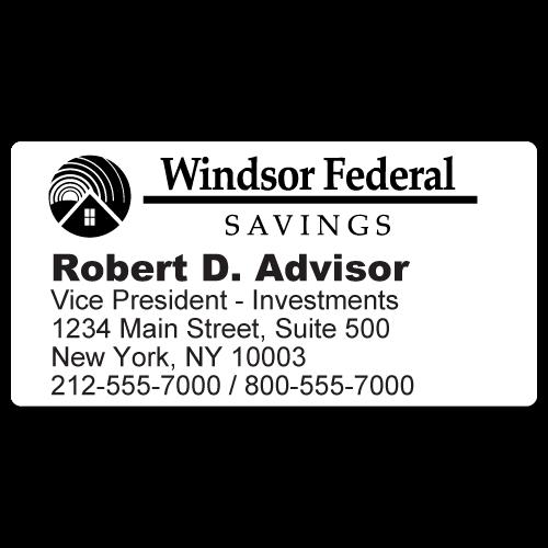 Custom Stickertape™ Labels for Windsor Federal Savings