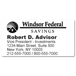 Custom Stickertape™ Labels for Windsor Federal Savings