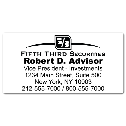 Custom Stickertape™ Labels for Fifth Third Securities