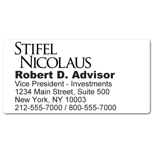 Custom Stickertape™ Labels for Stifel Nicolaus & Company