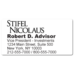 Custom Stickertape™ Labels for Stifel Nicolaus & Company