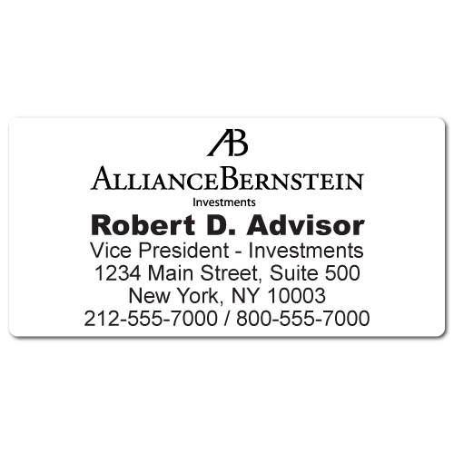 Custom Stickertape™ Labels for Alliance Bernstein
