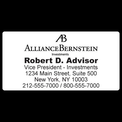 Custom Stickertape™ Labels for Alliance Bernstein