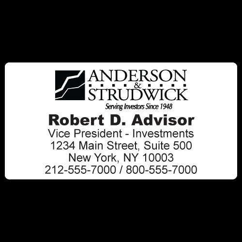 Custom Stickertape™ Labels for Anderson & Strudwick