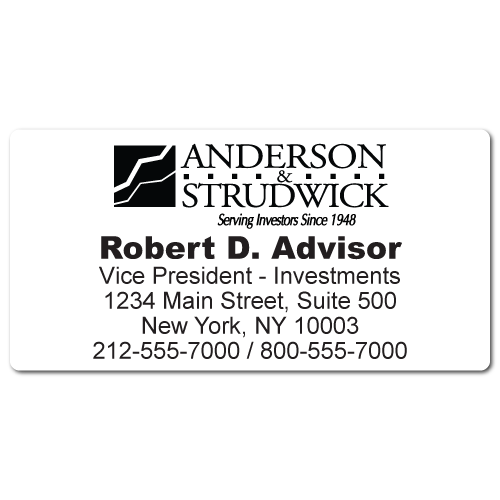 Custom Stickertape™ Labels for Anderson & Strudwick