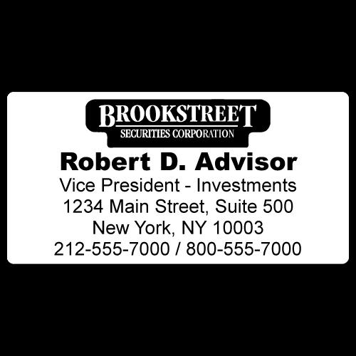 Custom Stickertape™ Labels for Brook Street