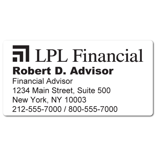 Custom Stickertape™ Labels for LPL Financial