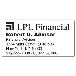 Custom Stickertape™ Labels for LPL Financial