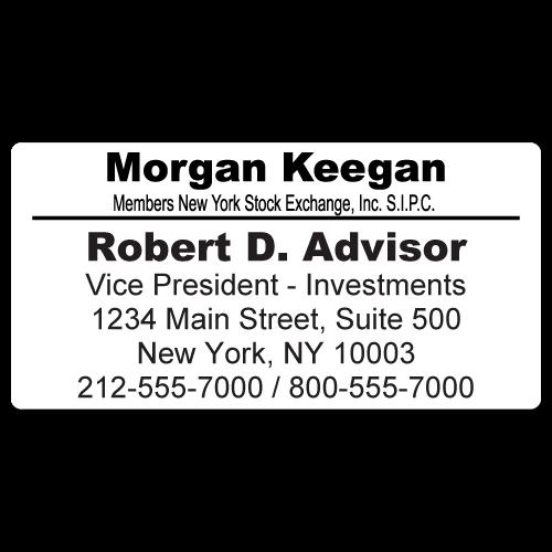 Custom Stickertape™ Labels for Morgan Keegan