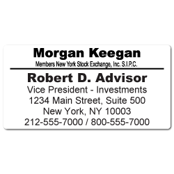 Custom Stickertape™ Labels for Morgan Keegan