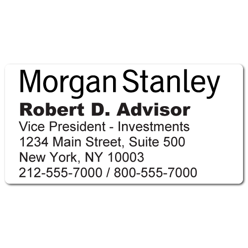 Custom Stickertape™ Stickers for Morgan Stanley