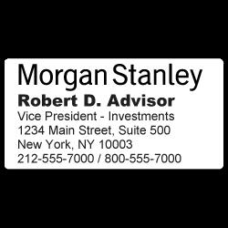 Custom Stickertape™ Stickers for Morgan Stanley