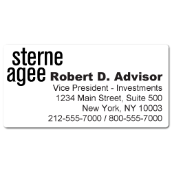 Custom Stickertape™ Labels for Sterne Agee