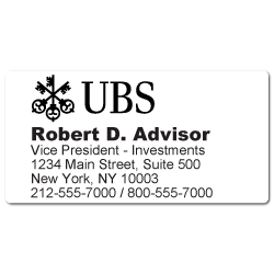 Custom Stickertape™ Labels for UBS