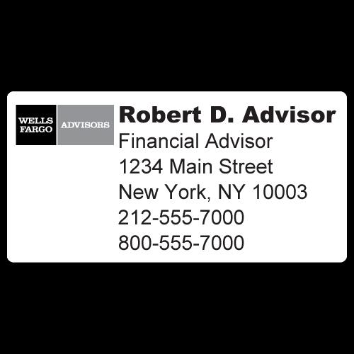 Custom Stickertape™ Labels for Wells Fargo Advisors