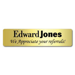 Edward Jones Referral Stickers