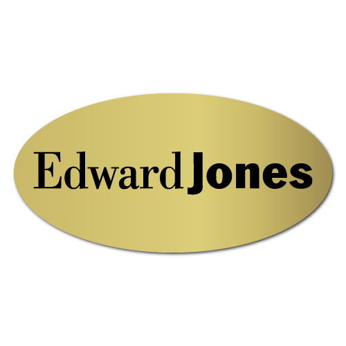 Edward Jones Logo 2 x 1 Oval Labels