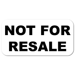 """Not For Resale"" Stickers"