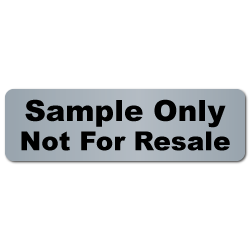 """Sample Only, Not For Resale"" Matte Silver Stickers"