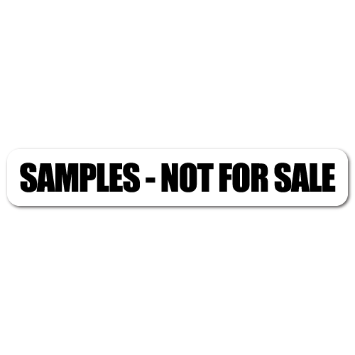 Samples - Not For Sale Stickers