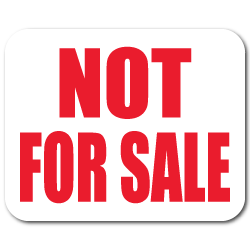 Not For Sale Stickers