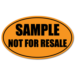 Sample Not For Sale Oval Label