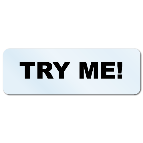 """Try Me!"" Stickers"