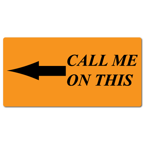 """""""Call Me On This Arrow"""" Stickers"""