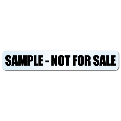 Sample - Not For Sale Clear Stickers
